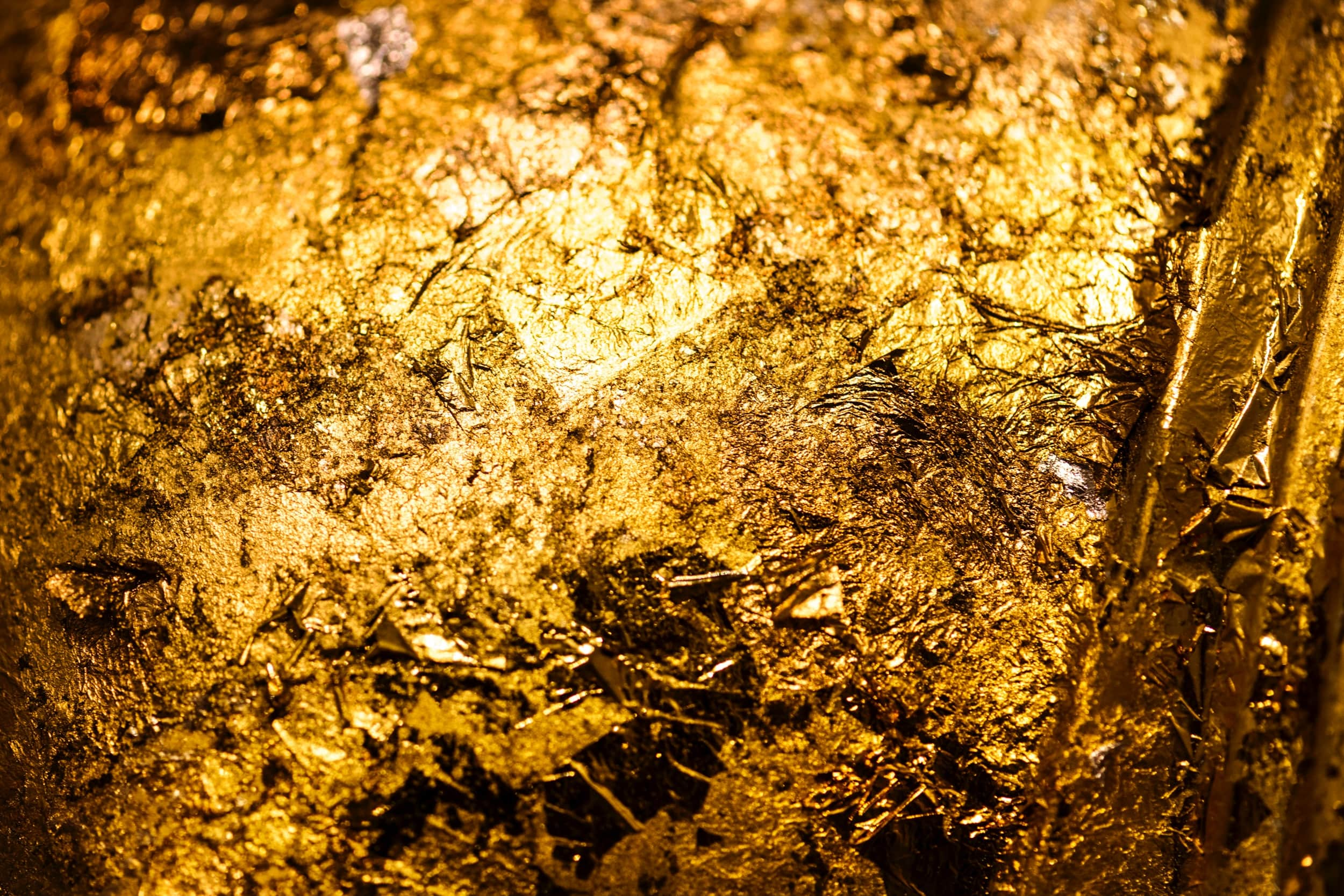 textures of gold